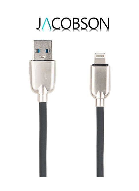 Jacobson J5 Iphone 5/6/7 Uyumlu USB Şarj ve Data Kablosu Siyah